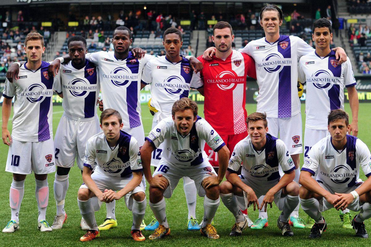 Orlando City U23 team from 2014
