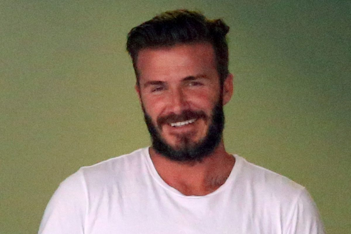 Beckham in Miami over the weekend.