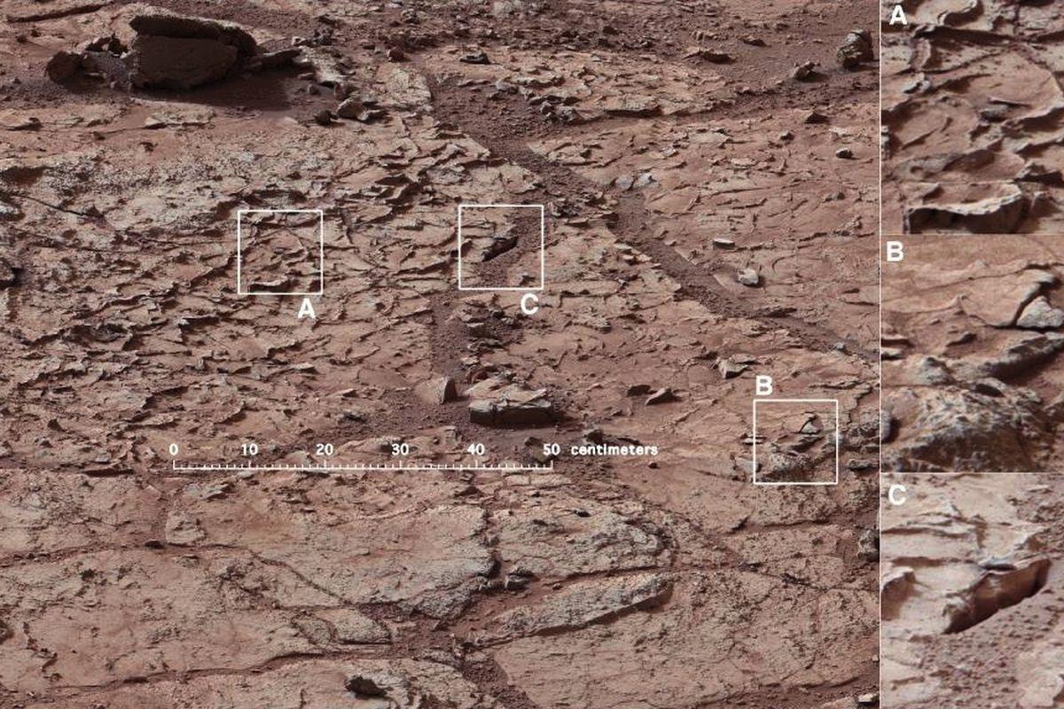 Mars Curiosity drilling site
