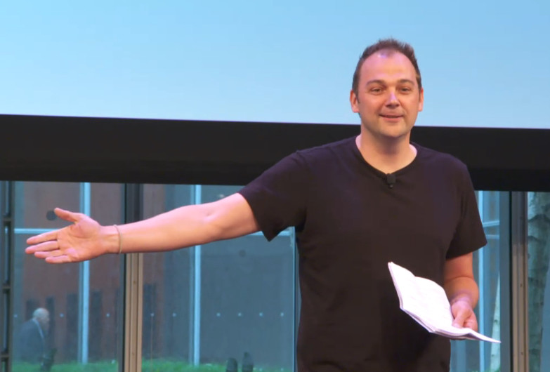 Photo: Daniel Humm at Welcome Conference
