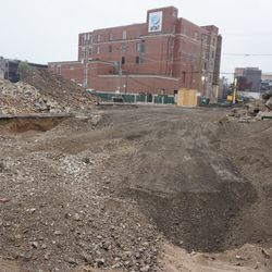 The site of the former Starbucks, across from the ballpark, on Addison