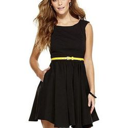 """<b>XOXO</b> Pocketed Swing Dress, $68 at <a href=""""http://www1.macys.com/shop/product/xoxo-dress-sleeveless-belted-pleated-a-line?ID=647589&PseudoCat=se-xx-xx-xx.esn_results"""">Macy's</a>: A flirty way to do a LBD. Sub in a red belt for something a little mo"""