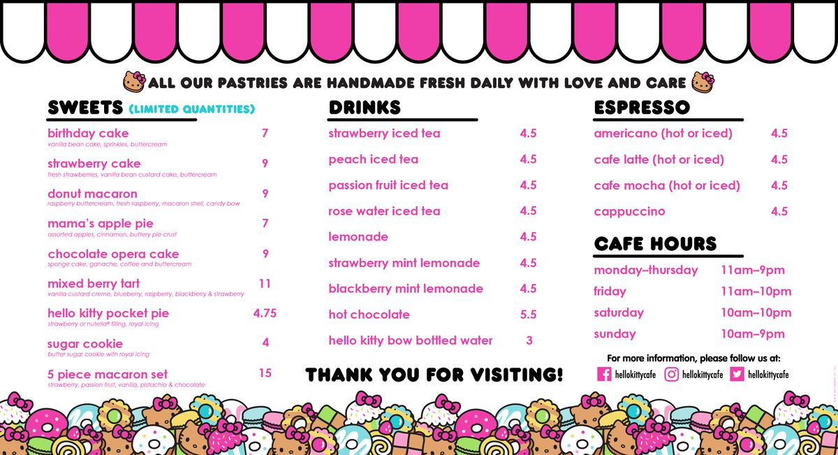 Squeal Alert Hello Kitty Opening Permanent Mini Cafe In Westfield