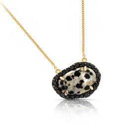 "Black Diamond & Leopard Jasper Necklace, <a href=""http://shop.phillipsfrankel.com/NECKLACES/Black-Diamond-Leopard-Jasper-Necklace-p451.html"">$1500</a>"