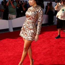 Nicki Minaj in a relatively conservative miniskirt.