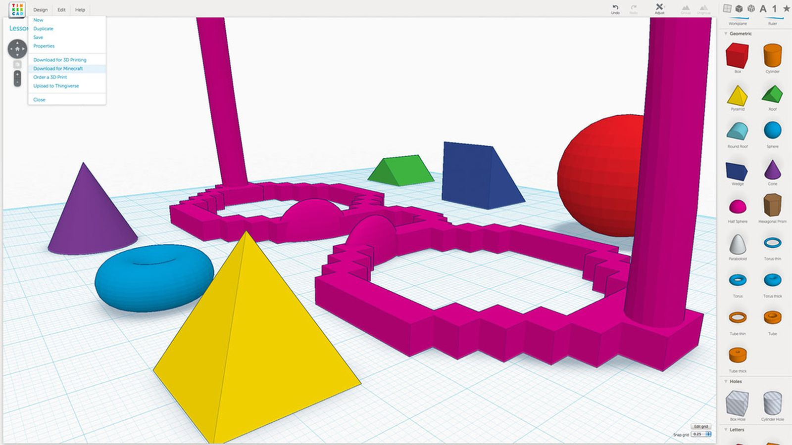 Free 3d Design App Tinkercad Adds Fast Simple Minecraft