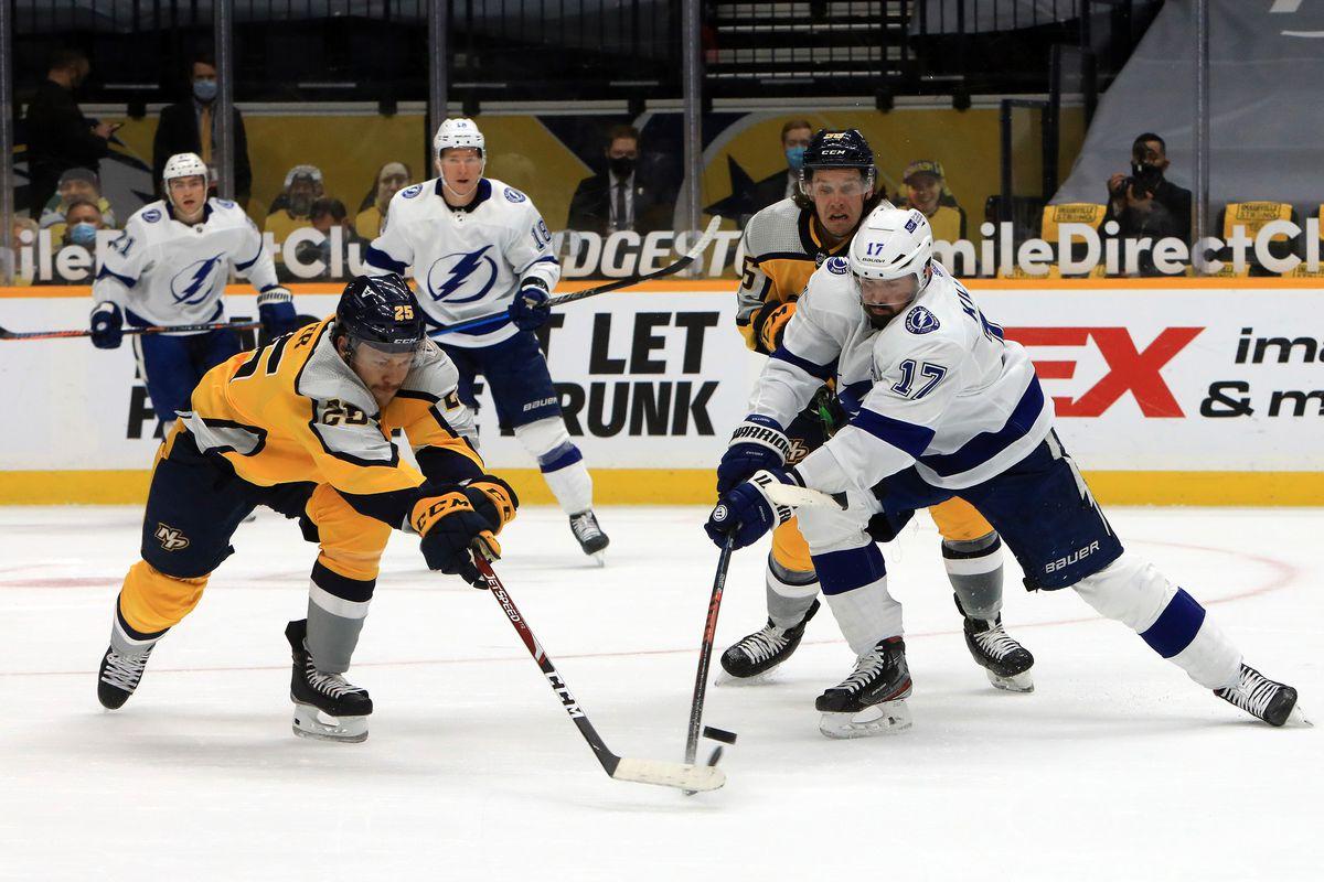 NHL: FEB 08 Lightning at Predators