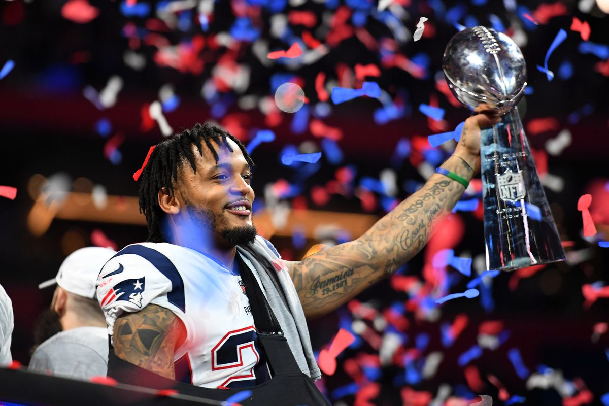big sale d889b 0869e Patriots rallied for injured leader Patrick Chung in Super ...