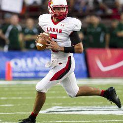 Lamar quarterback Ryan Mossakowski runs the ball during an NCAA college football game against Hawaii, Saturday, Sept. 15, 2012, in Honolulu.