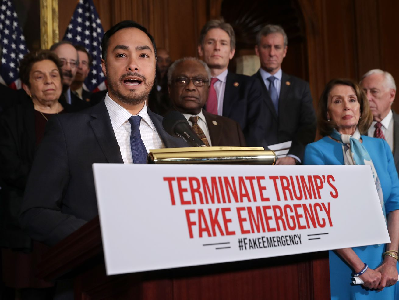 Rep. Joaquin Castro speaks at a news conference in Washington, DC.