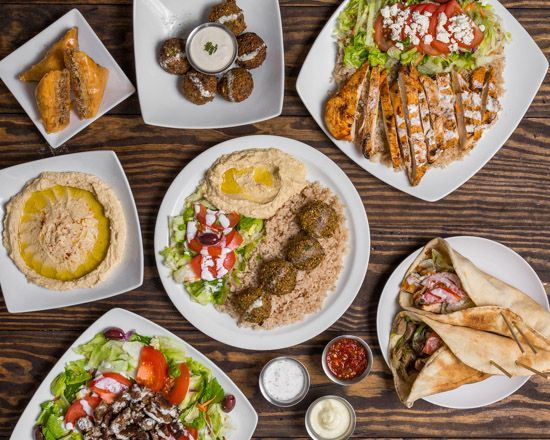 Dishes from The Falafel Guys
