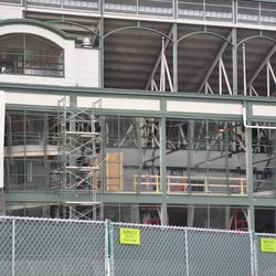 View of the west side of the ballpark from Clark