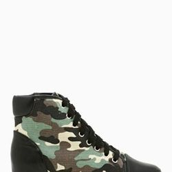 """<a href=""""http://www.nastygal.com/product/army-brat-sneaker/_/searchString/shoe%20cult"""">Army Brat Sneaker</a>, $78.00"""