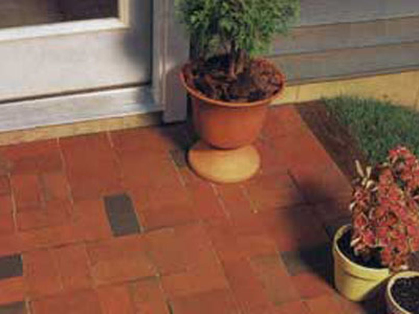 lay an appealing brick patio this old