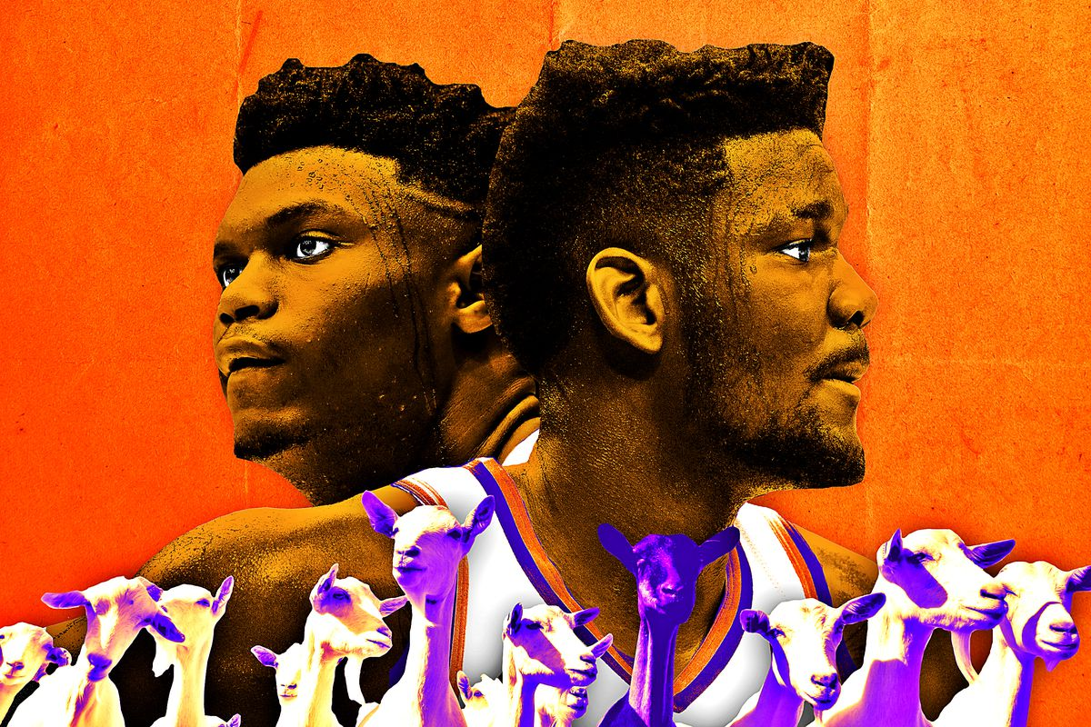 Zion Williamson, Deandre Ayton, and goats