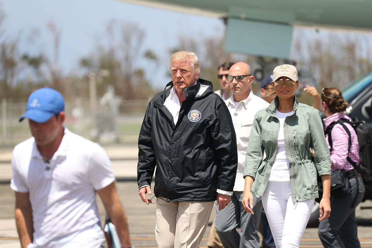 President Trump Arrives In Puerto Rico On Tuesday Joe Raedle Getty Images
