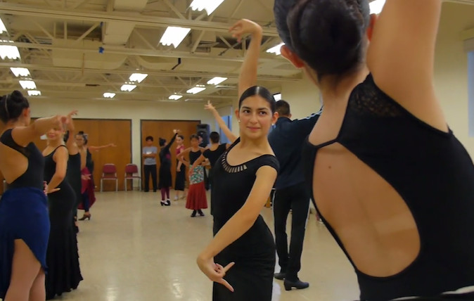 Abigail Mosquera, 17, has been dancing with Ensemble Espanol Spanish Dance Theater for three years. | Eliza Davidson/Sun-Times