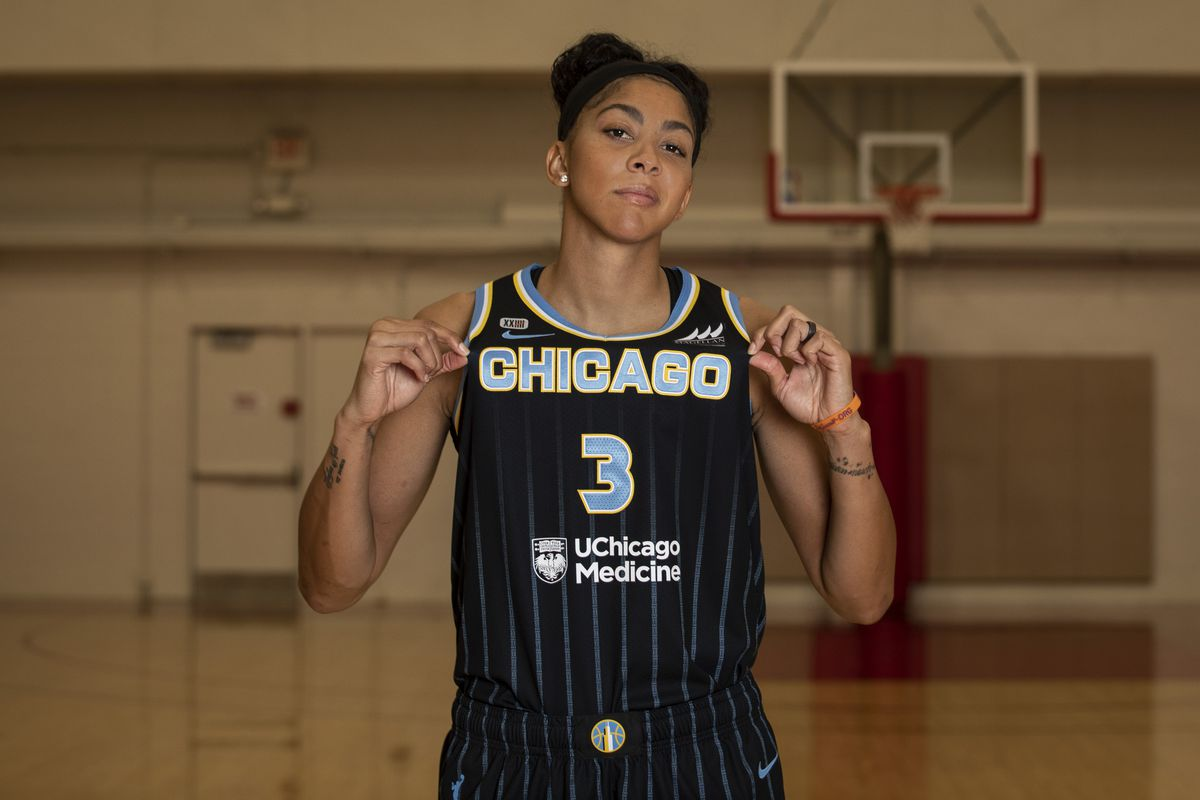 """""""When my career is all said and done, then we'll be able to reflect on it,"""" the Sky's Candace Parker said. """"While I'm still in it, I hope I continue to change the way the game is played."""""""