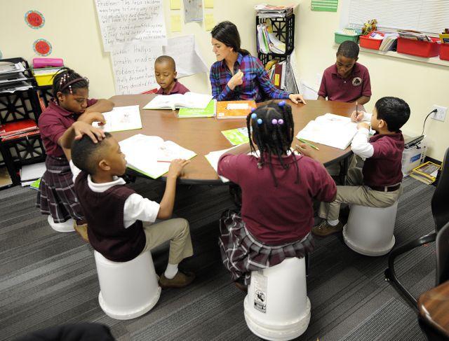 Tindley Renaissance, new mayor-sponsored charter school, opened this fall. (Alan Petersime)