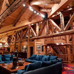 A view of the great room of the 20,000 square foot Huntsman Estate at Deer Valley that sits on 64 acres and is up for sale for $55 million.