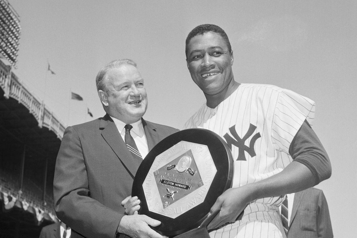Elston Howard Receiving 1963 MVP Award