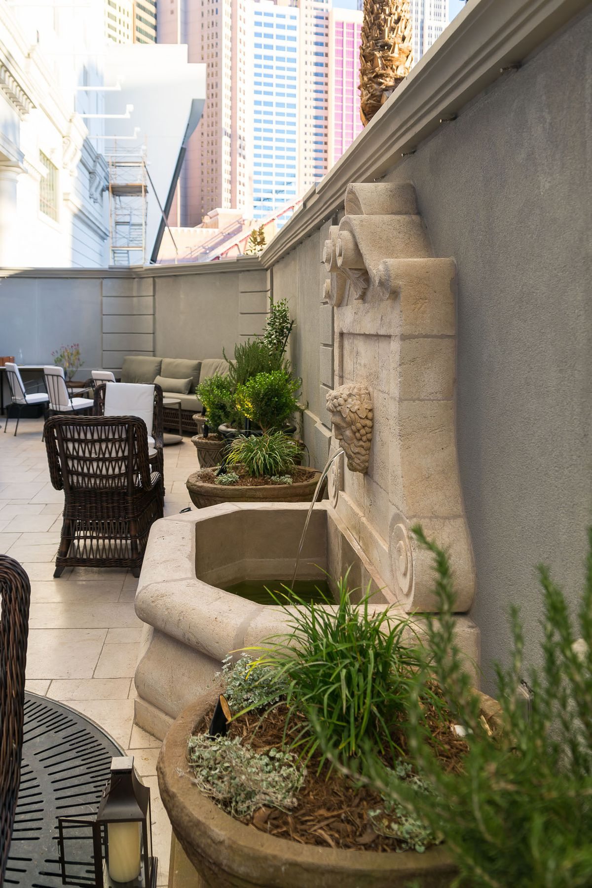 The patio at NoMad Bar