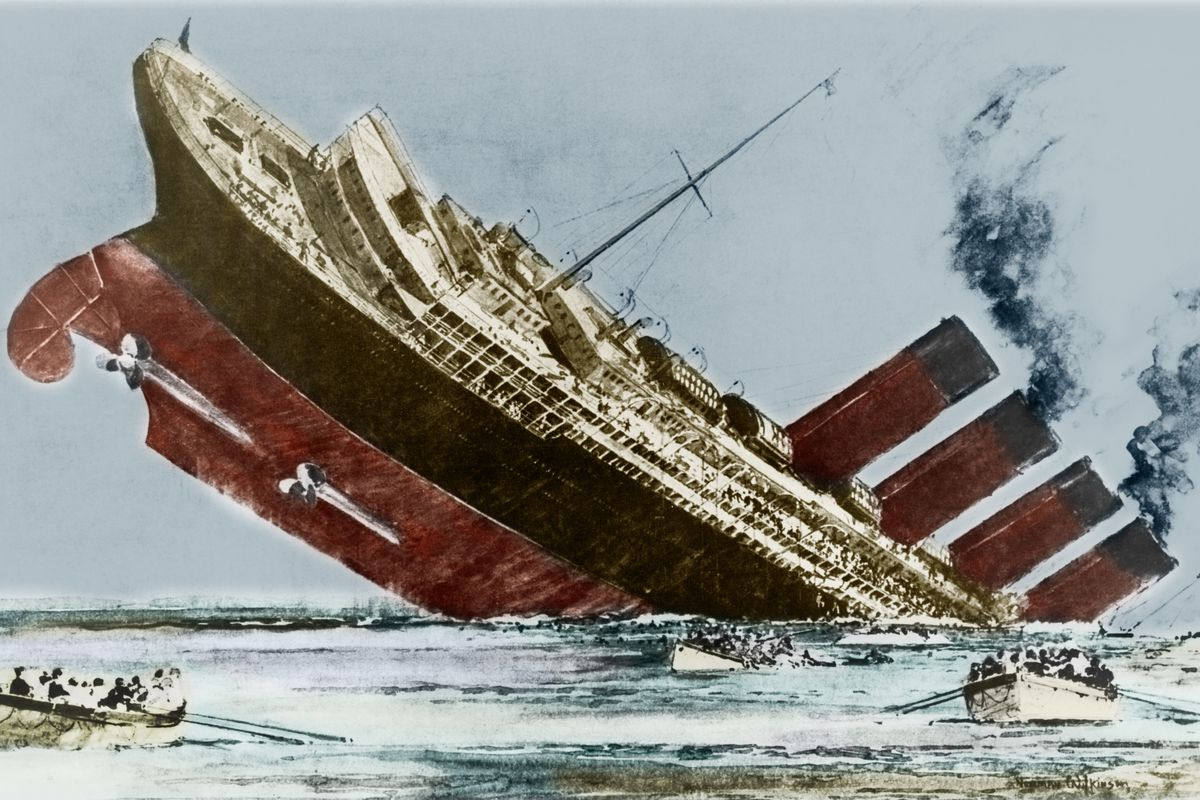 Watch the eerie last video of the RMS Lusitania - Vox