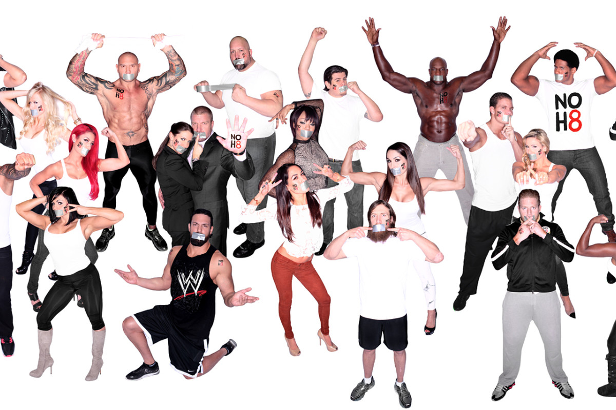 Wwe Teams Up With Noh8 Campaign To Send Clear Message About Same-Sex Marriage Support -3403