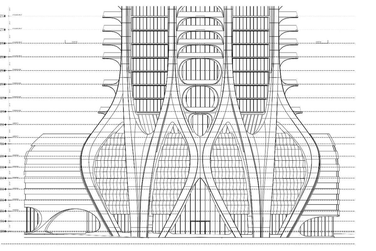 Zaha Hadid S Computer Drawings Of One Thousand Museum Curbed Miami