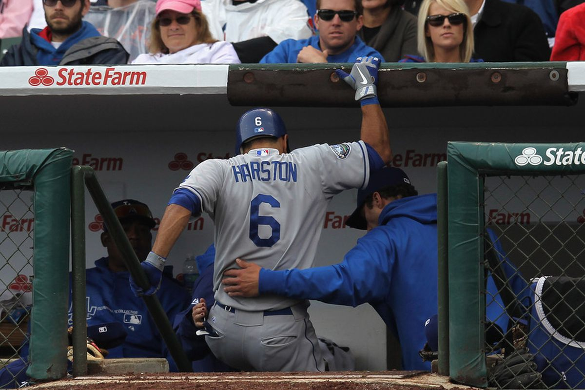 Jerry Hairston Jr. hurt his left hamstring on Sunday at Wrigley Field.