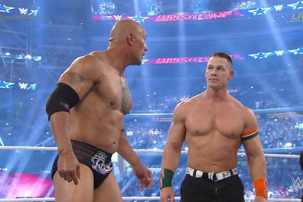 46979ff810a46 WrestleMania Results: John Cena & The Rock team up to take out the Wyatt  Family