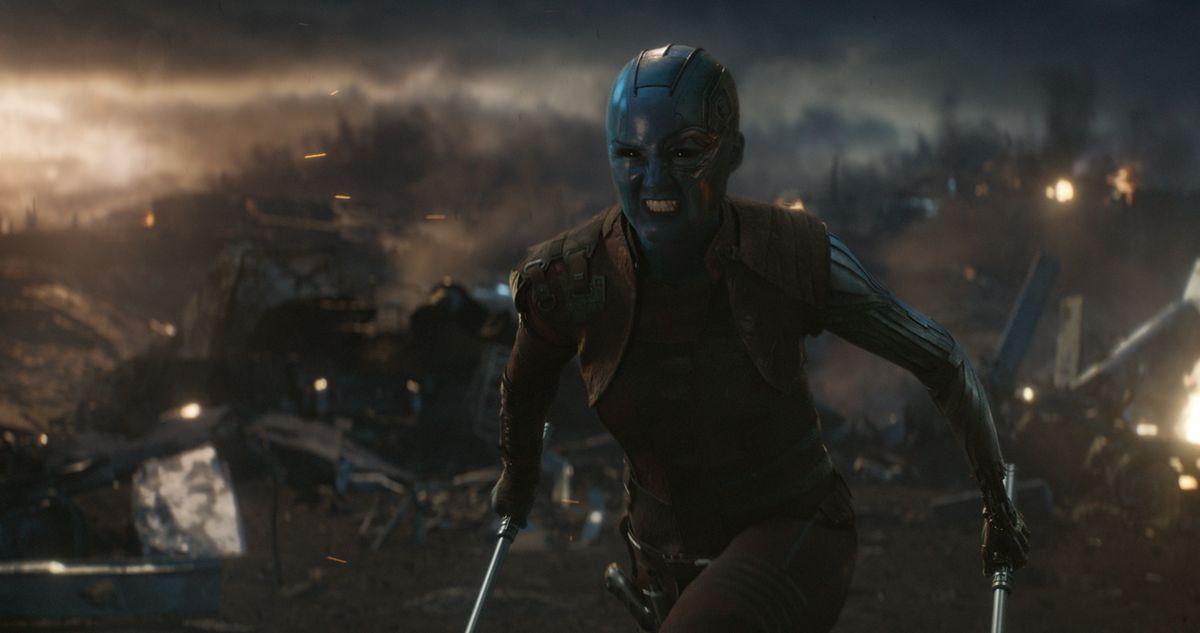 """Nebula (Karen Gillan) gets a new nickname in """"Avengers: Endgame.""""   ©Marvel Studios"""