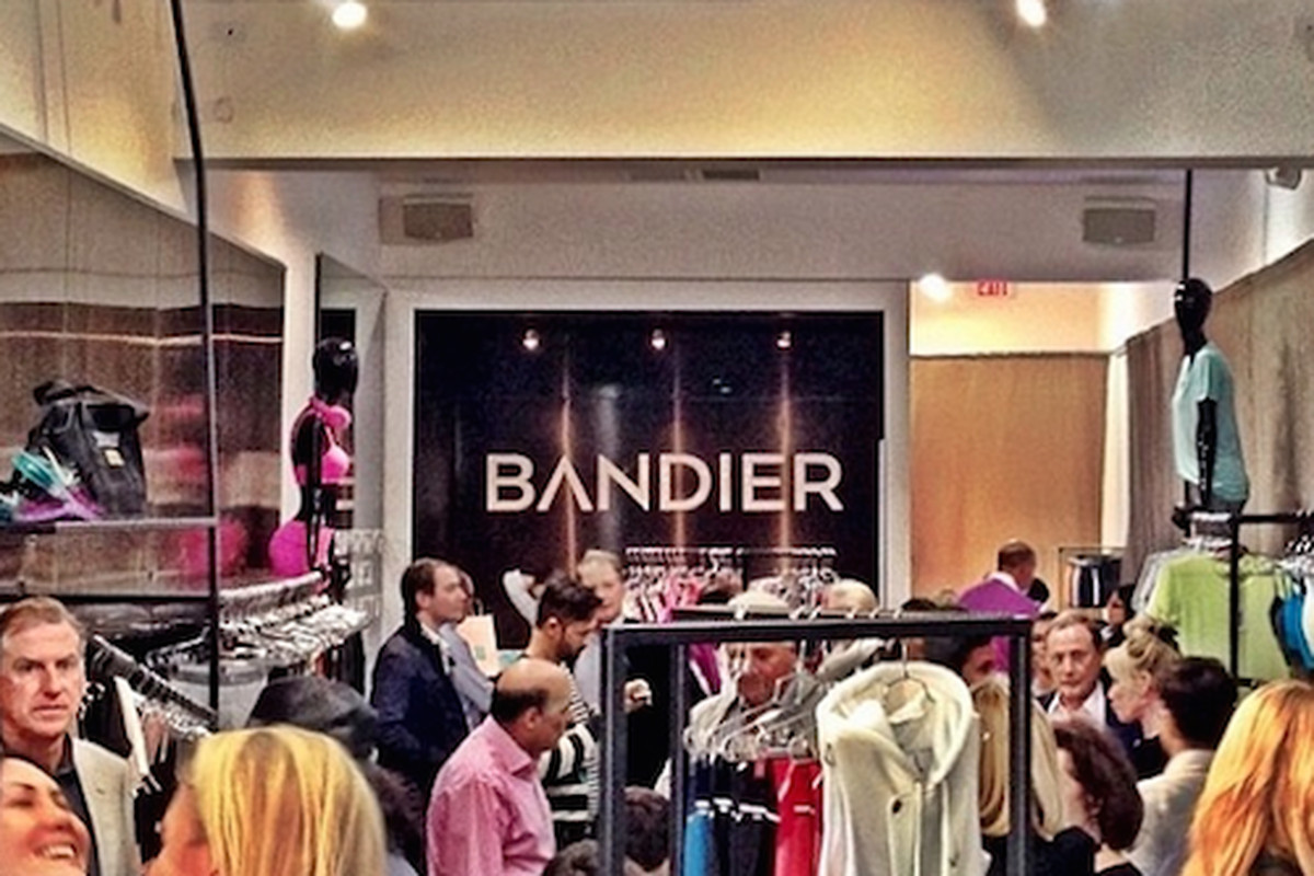 """The scene at last weekend's opening party; Photo via Facebook/<a href=""""https://www.facebook.com/bandierfit"""">Bandier</a>"""