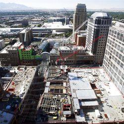 Construction on the downtown area of Salt Lake,  Thursday, Sept. 23, 2010.