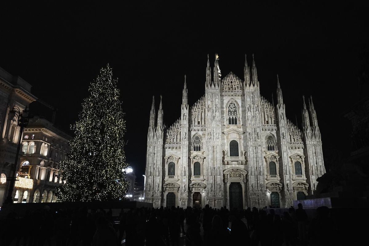 Christmas Atmosphere In Italy
