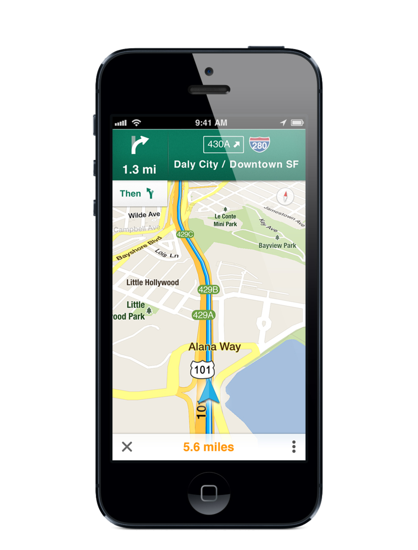 Google Maps for iPhone press image gallery