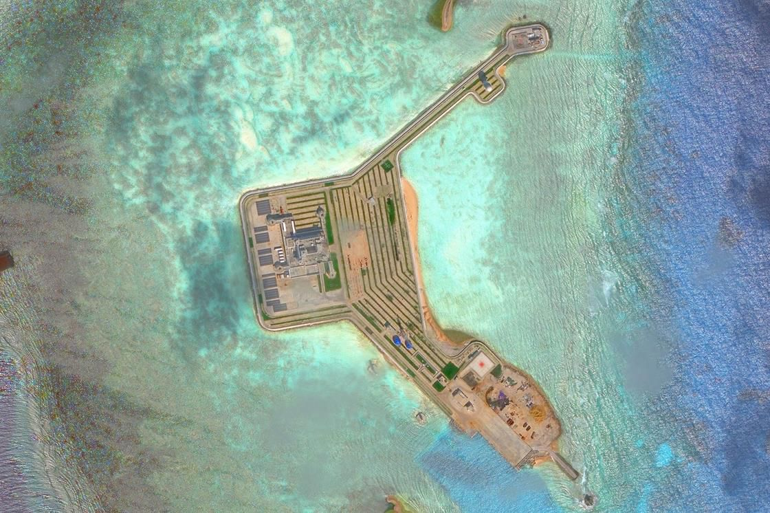 Aerial view of South China Sea
