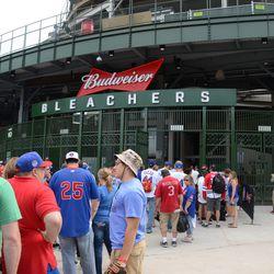 3:58 p.m. The line at the main bleacher gate -