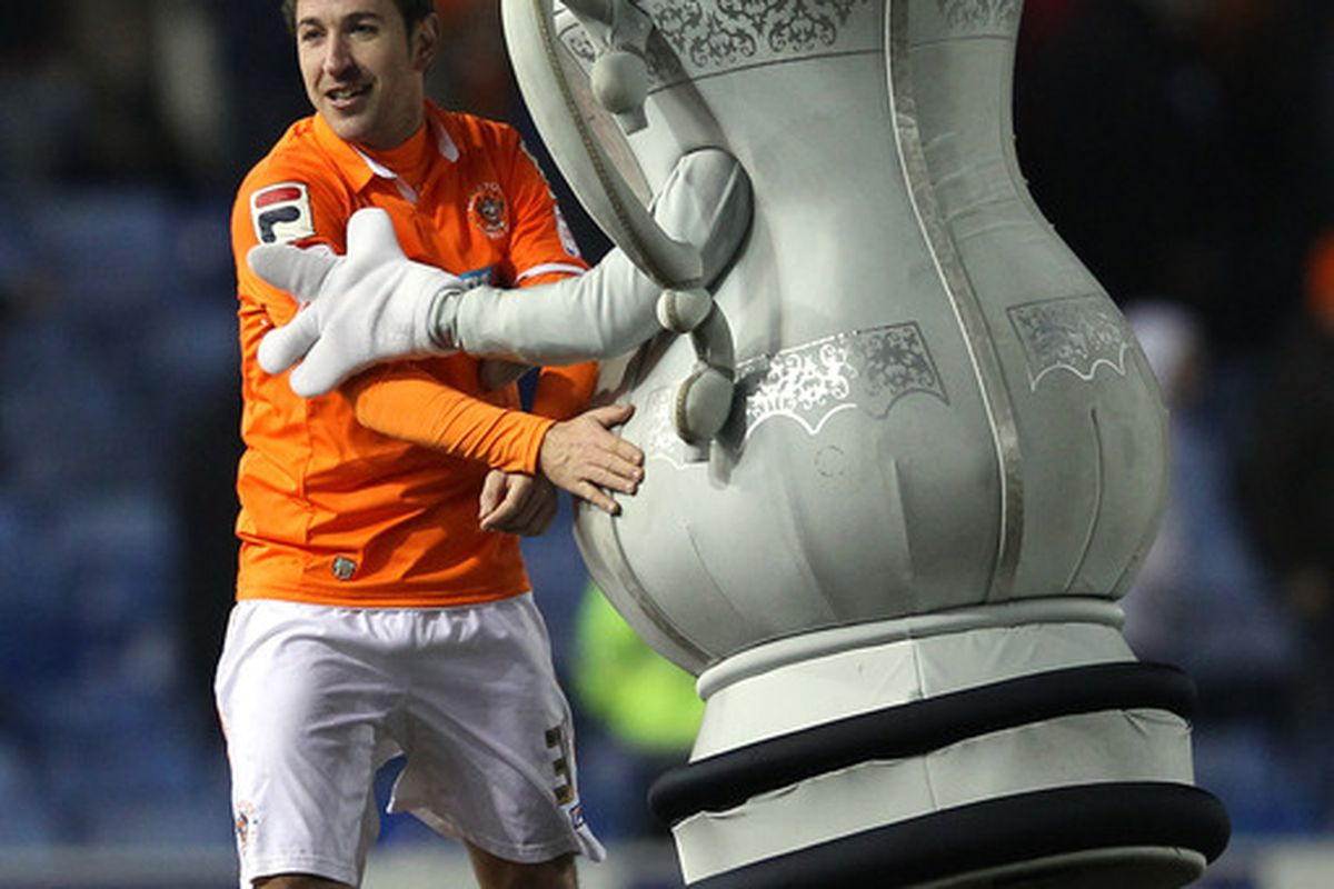 A goal from Angel Martinez was enough to give Blackpool all three points.  (Photo by Alex Livesey/Getty Images)