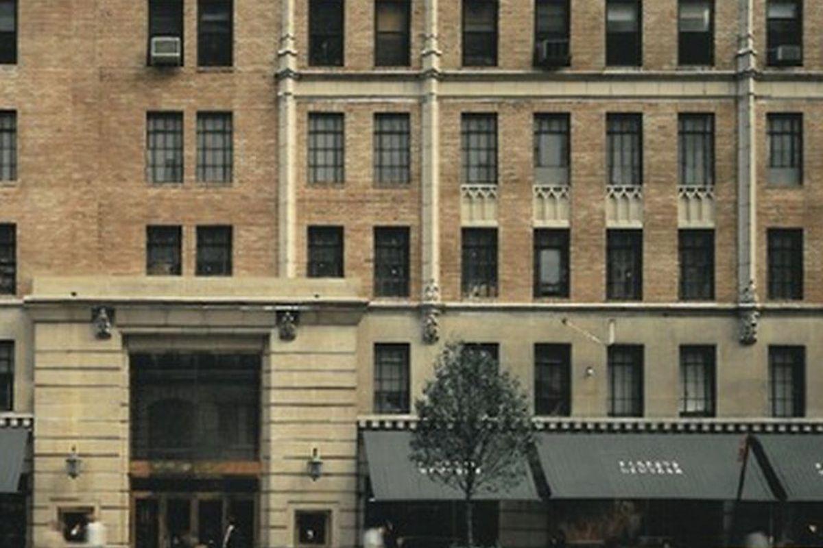 The original Barneys storefront in Chelsea