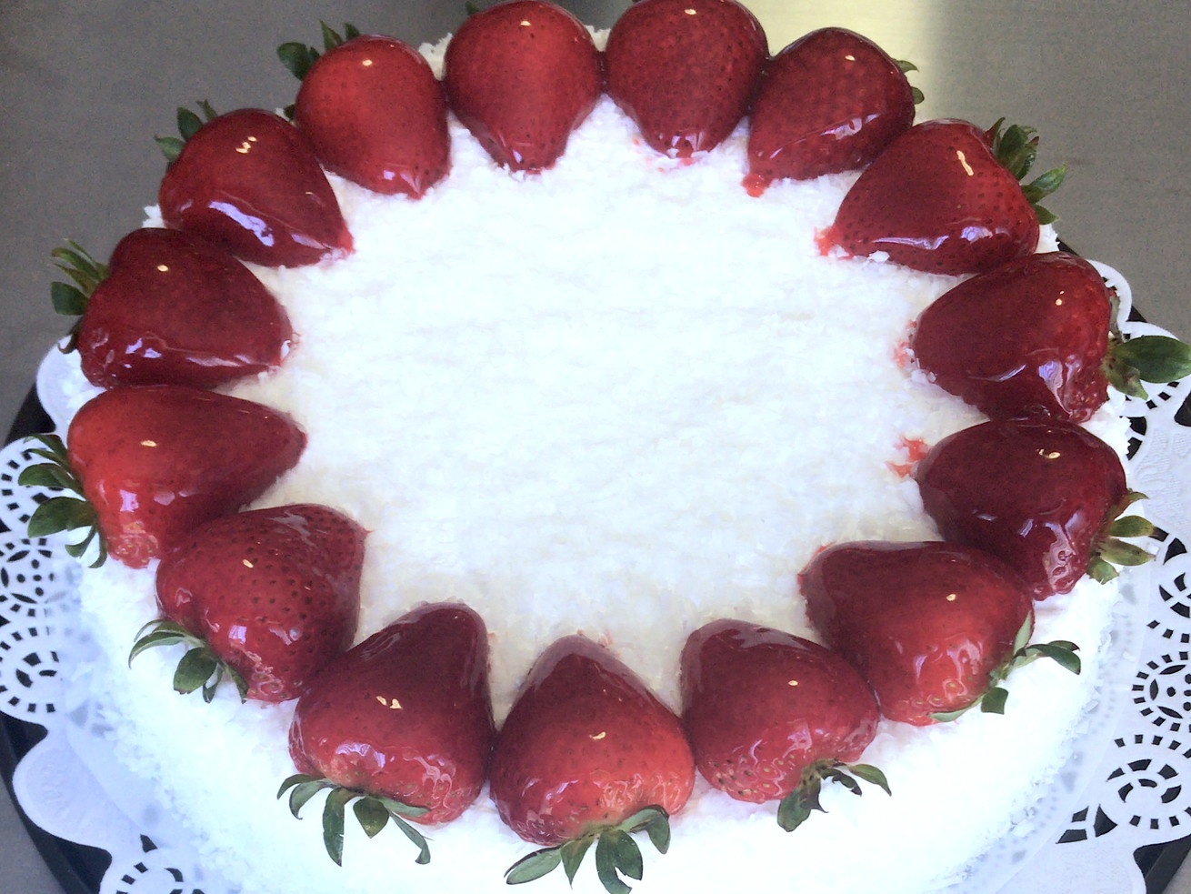 A coconut tres leches cake.