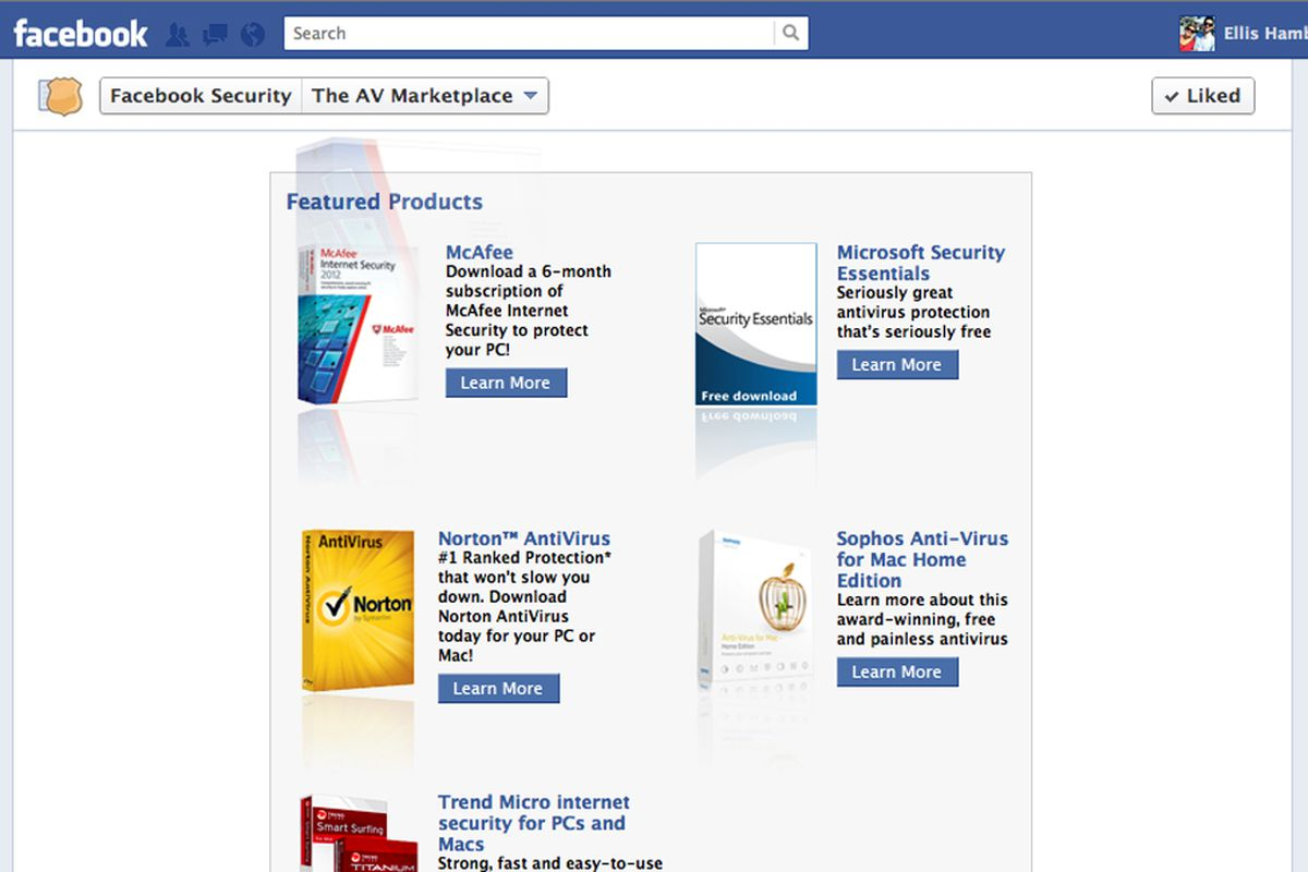 Facebook partners with McAfee, Symantec, Microsoft, others