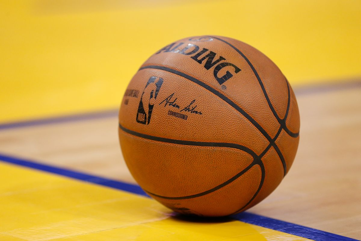 A detail shot of the basketball during the game between the Golden State Warriors and the Detroit Pistons at Chase Center on January 04, 2020 in San Francisco, California.