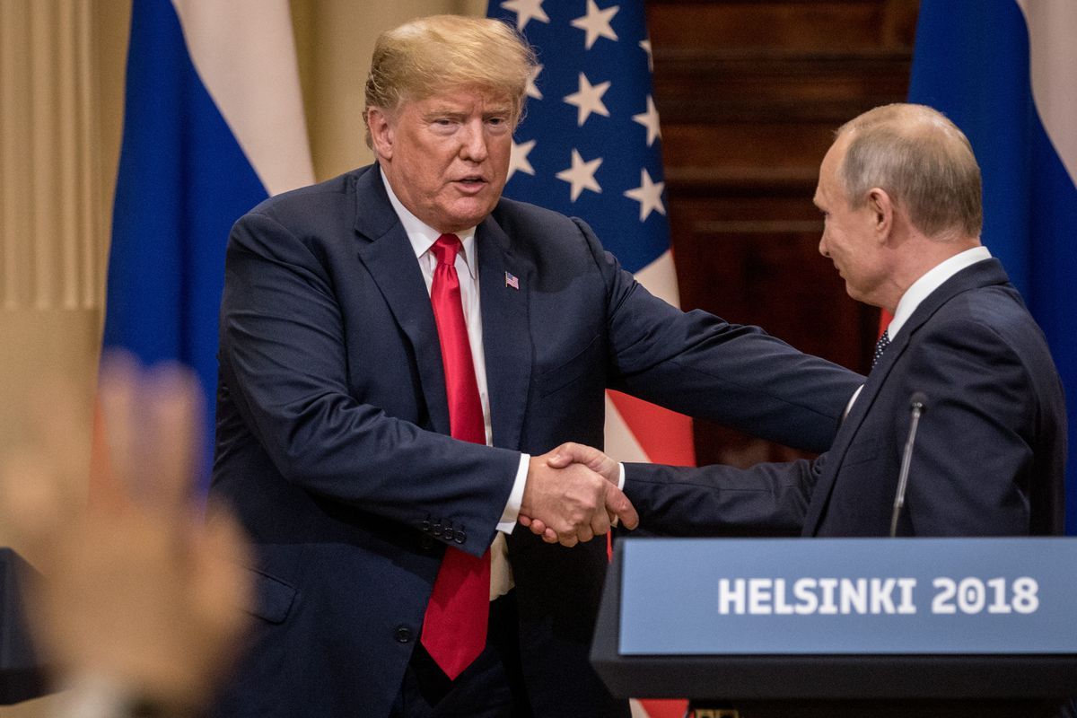 """President Donald Trump says """"collusion is not a crime"""" in a tweet on July 31, 2018."""