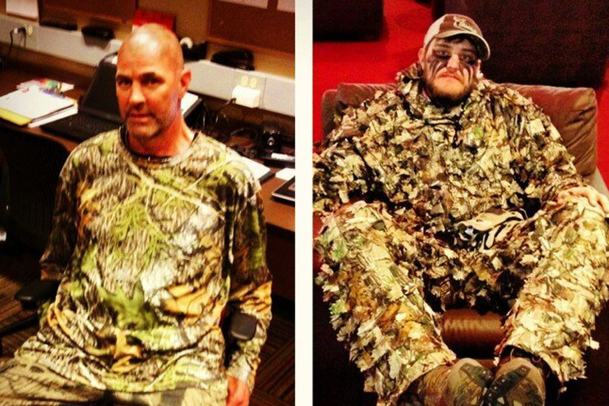 And they're taking their camo gear very seriously: