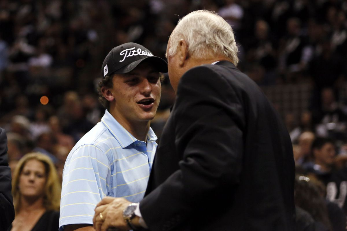 Johnny Manziel at the Spurs/Heat game last night, you guys.