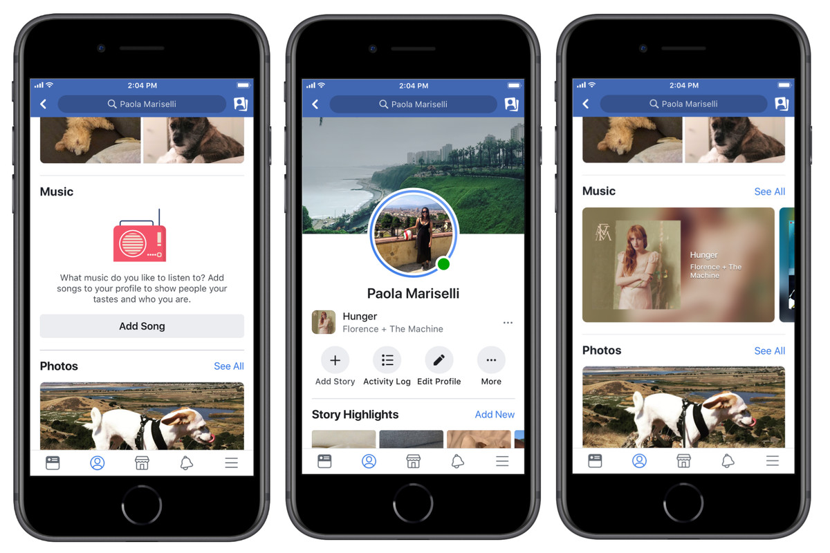Facebook adds music features to profiles and Stories