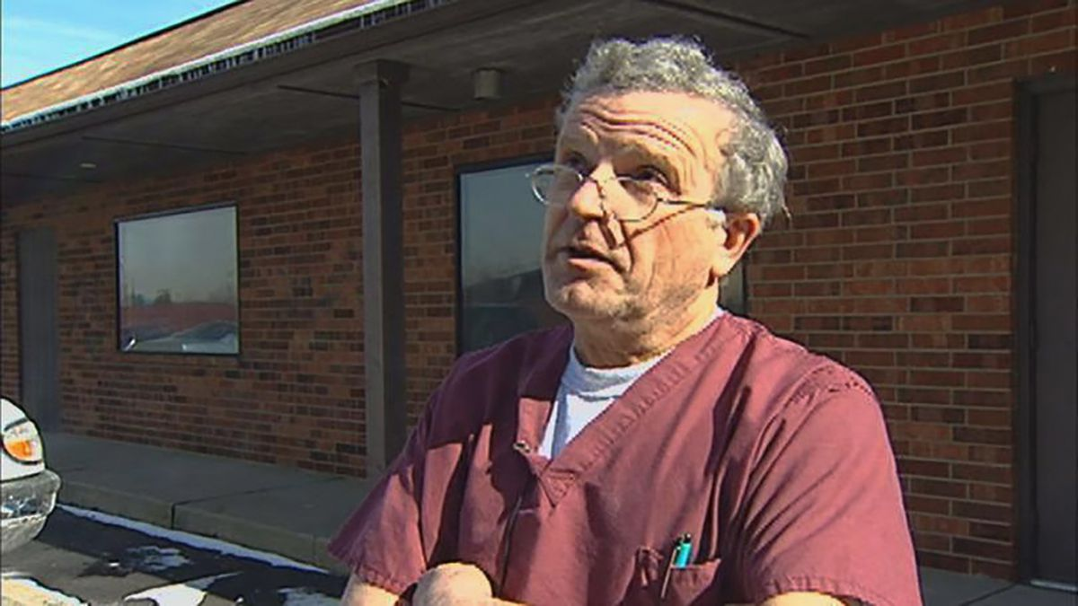 Dr. Ulrich Klopfer, seen at his South Bend, clinic. is believed to have performed tens of thousands of abortions. In the final years of his life, he developed a close friendship with one of the anti-abortion activists who stood outside his clinics.