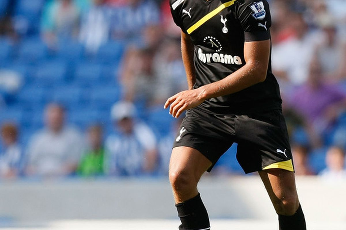 Jake Livermore of Tottenham Hotspur in action during the Pre Season Friendly match between Brighton & Hove Albion and Tottenham Hotspur