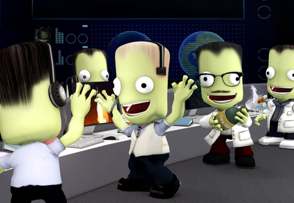 A Kerbal dressed like the Apollo 13 chief flight director Gene Kranz, white vest and all.